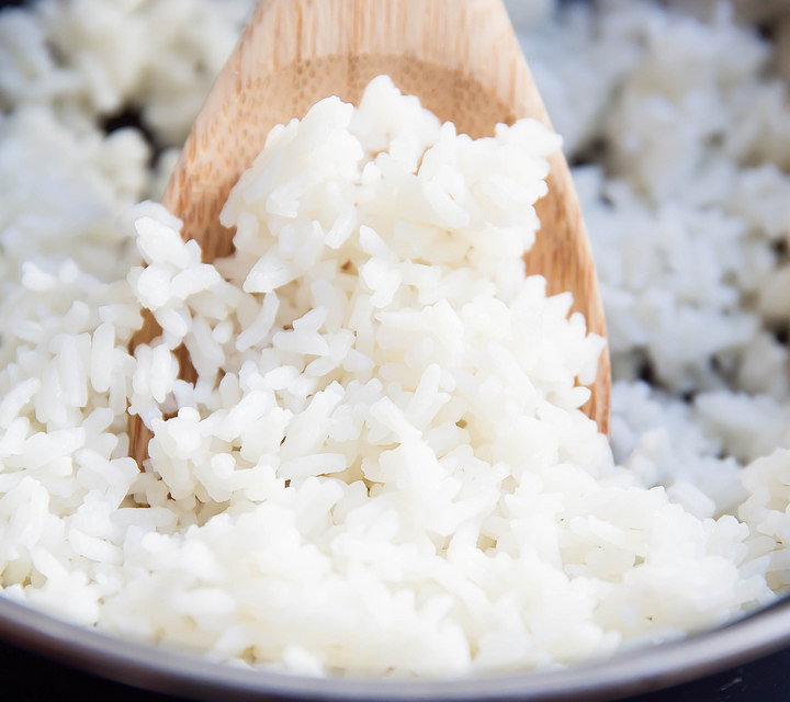 close-up photo of cooked rice