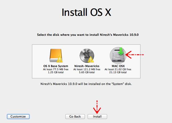 Mulai menginstall OS X
