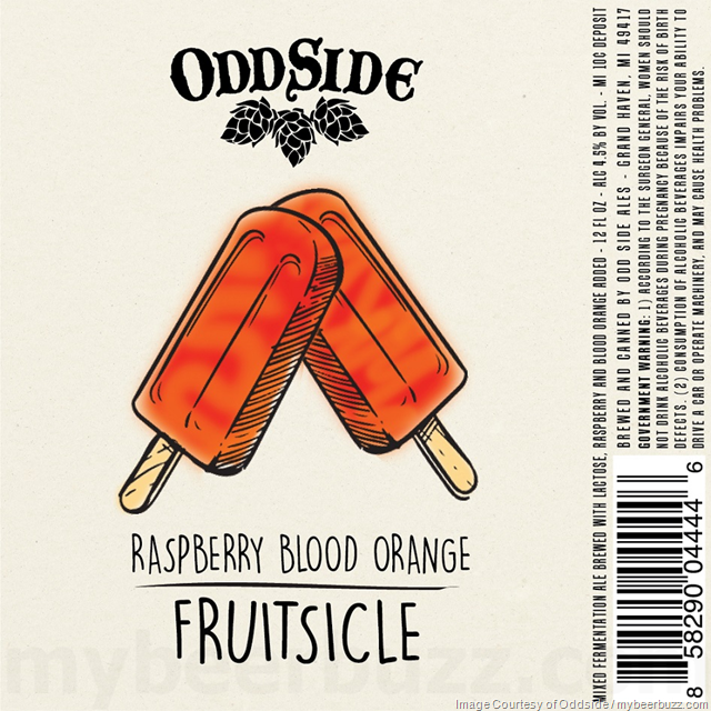 Odd Side Ales Adding Strawberry, Cherry, Raspberry Blood Orange & Black And Blue Berry Fruitsicle Cans