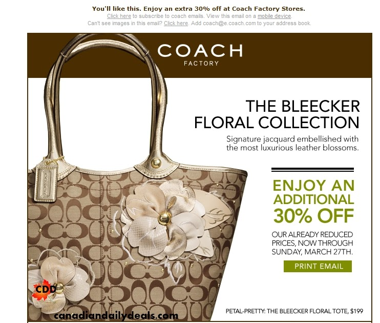 Coupons coach factory store