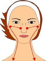 Шаг 7. Очищаем от жира зону возле носа