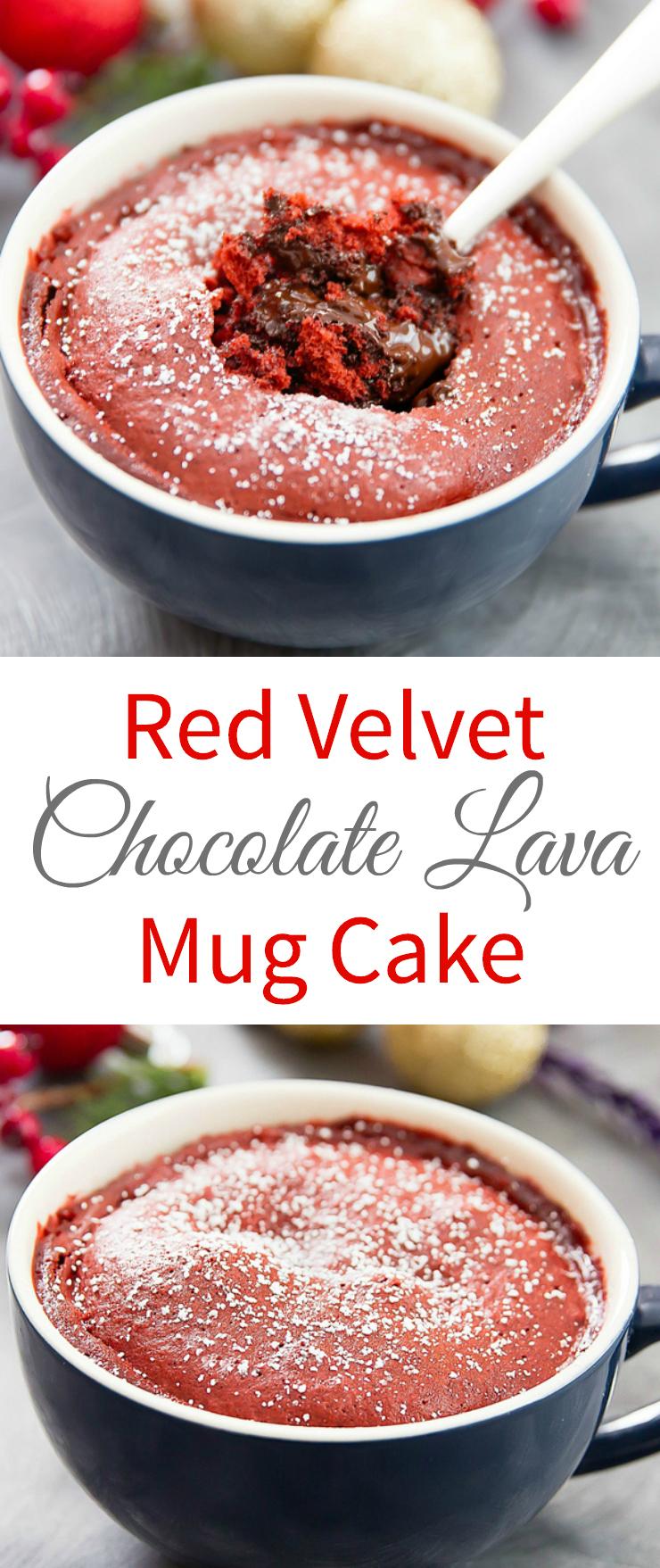 Red Velvet Lava Mug Cake - Kirbie's Cravings
