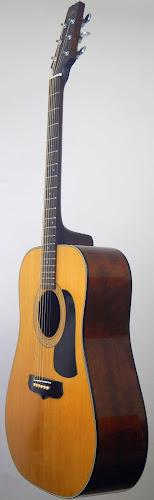 Japan made spruce and mahogany eightys aria acoustic guitar at Ukulele Corner