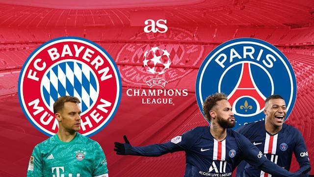 Watch Live Stream Match: Bayern Munchen vs PSG (UEFA CHAMPIONS LEAGUE)