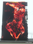 """""""Mensch"""", Glas Schwarzlot, Echtantikglas 2004"""