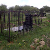 Graveyard in Mochudi, one of the few markers