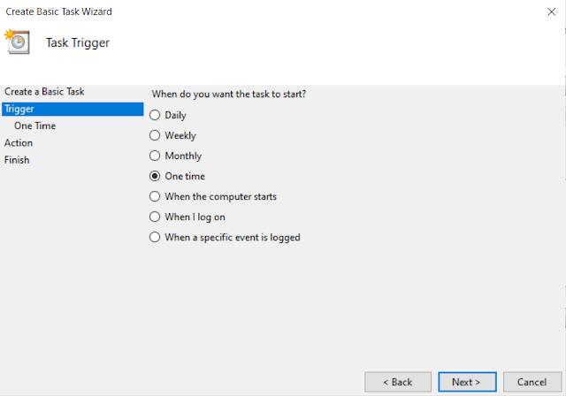 Schedule Windows Shutdown Task 2