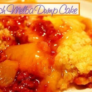 Peach Melba Dump Cake.