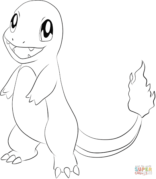 Click The Charmander Coloring Pages To View Printable Version Or Color It  Online Patible With Ipad And Android Tablets