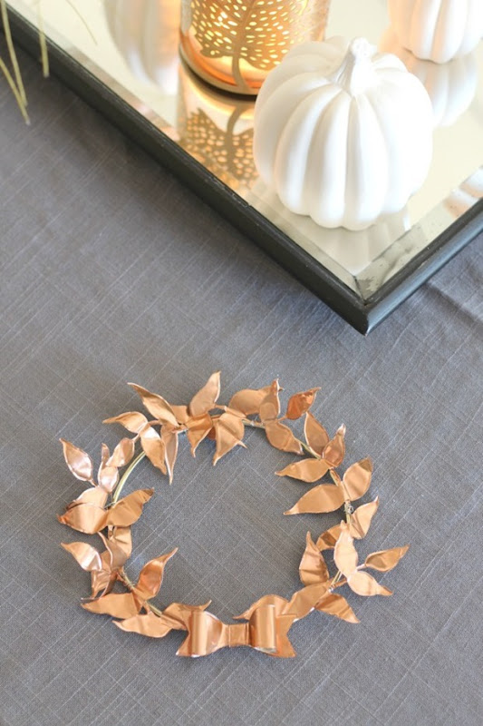Copper-Leaf-Wreath-Table