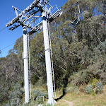 Walking under Snowgums Chairlift (275984)