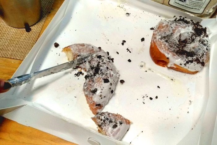 Miuccia cookies and cream doughnuts