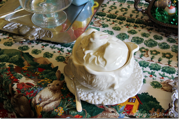 Easter Bunny in Cabbage Tureen