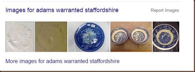 Google search Adams pottery