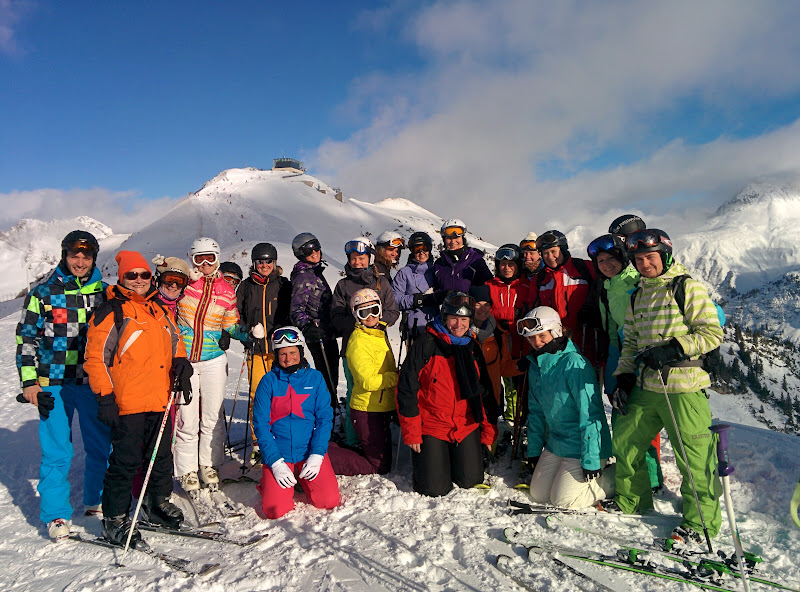 Gruppenfoto Lady-Ski-Weekend 2016