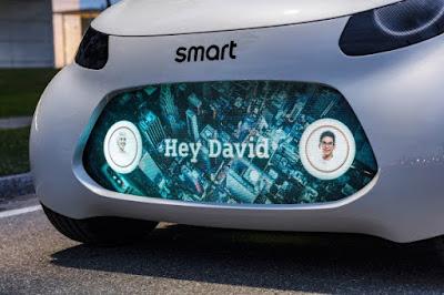 Vision EQ Fortwo autonomous concept car by Smart Daimler-Mercedes-Benz