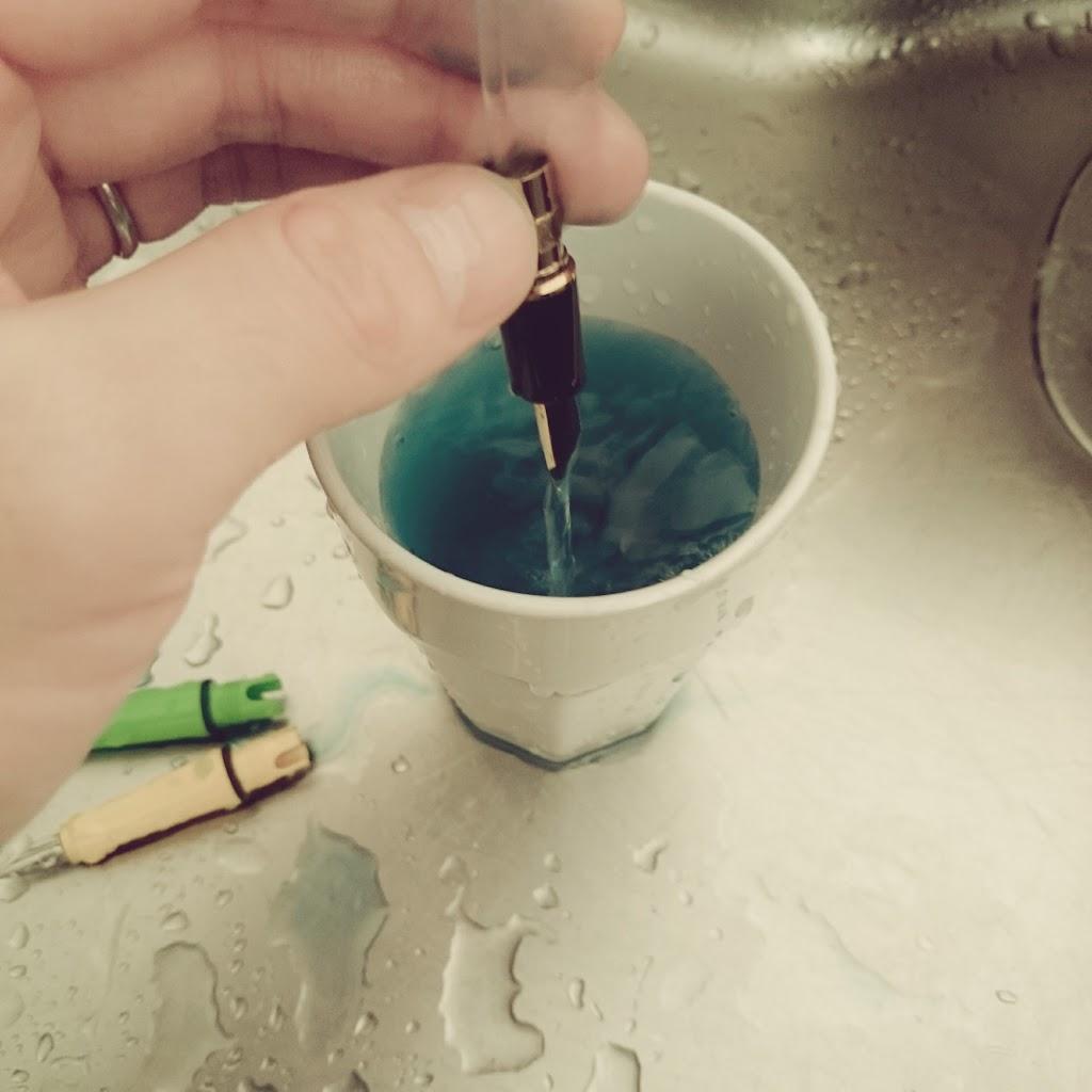 万年筆-洗浄