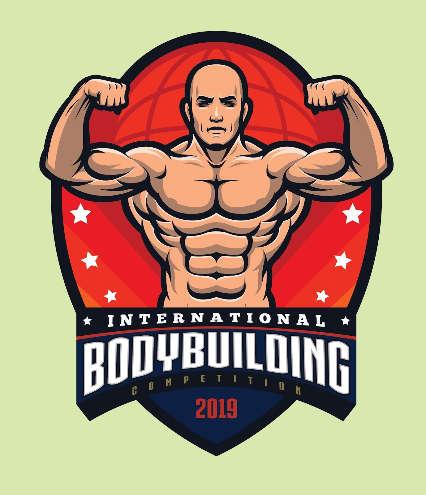 Bodybuilding Logo Template Free Download Vector CDR, AI, EPS and PNG Formats