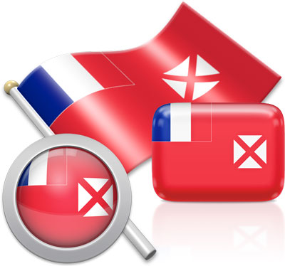 Wallis and Futuna flag icons pictures collection
