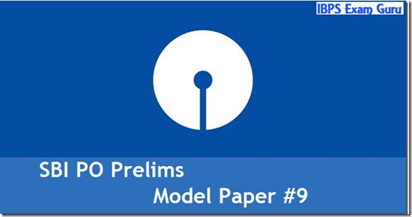 SBI PO 2017 Model Question paper Set 9 PDF Download