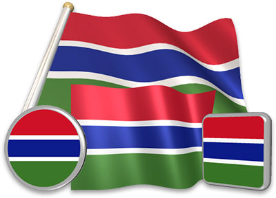 Gambian flag animated gif collection