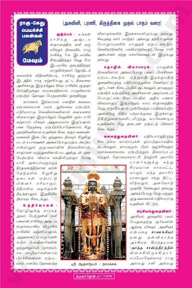 Complete and Full Rahu Kethu Peyarchi Palangal - Mesham