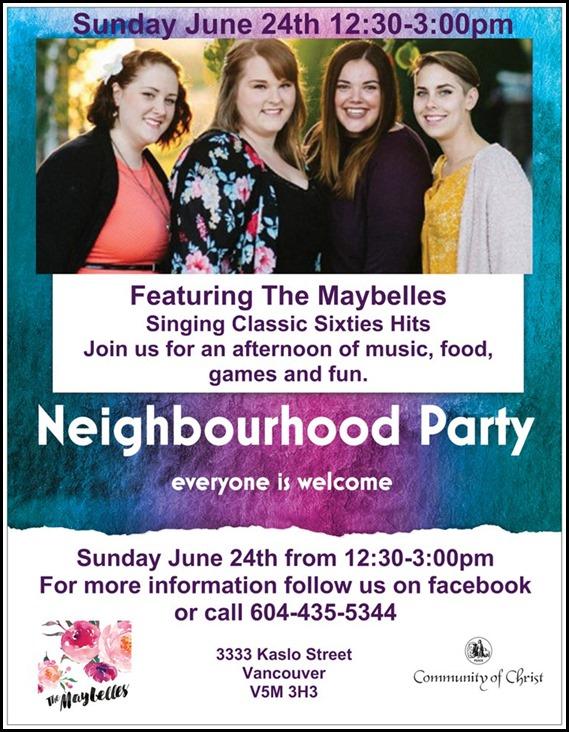2018 Neighbourhood flyer