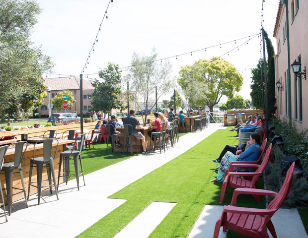 photo of more places to sit outside Liberty Public Market