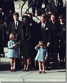 JFK Jr. salutes his daddy