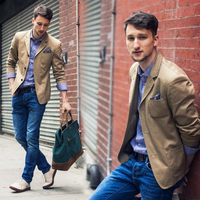 Chon ao vest nam dep de mac cung quan jeans  4