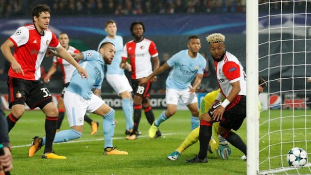 Rotterdam vs Manchester City Champions League Match Highlights