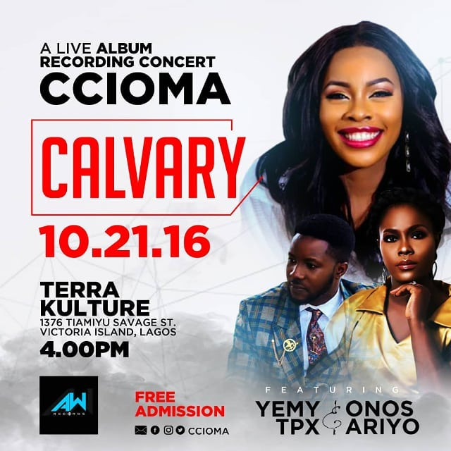 Ccioma sets to host a live Album Recording concert tagged Calvary || @ccioma