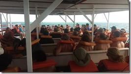 Acompanhando a ida do barco aos parrachos