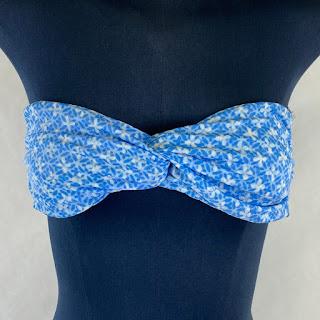 MA+CH NEW Blue Bikini Top