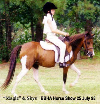 Skye riding Magic - Border Belt Horseman's Assoc show