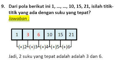 contoh soal dan pembahasan pola bilangan 9