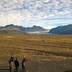 Sandur plains in front of Vatnajökul glacier tongue.