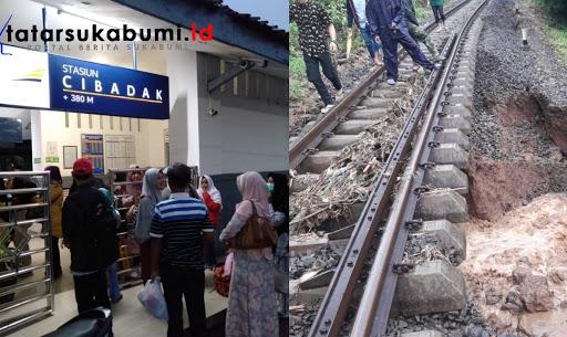 Longsor, KA Pangrango Rute Bogor - Sukabumi Tertahan