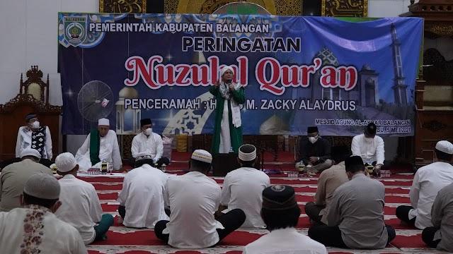 Peringati Nuzulul Qur'an, Bupati Balangan Ajak Masyarakat Agar Selalu Membaca dan Mengamalkan Al-Qur'an