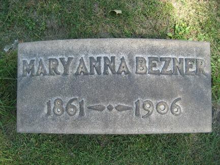 BEZNER_Mary Anna headstone