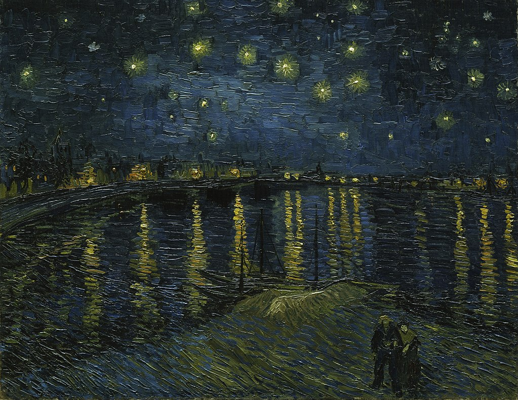 Gogh Starry Night Over the Rhone, 1888