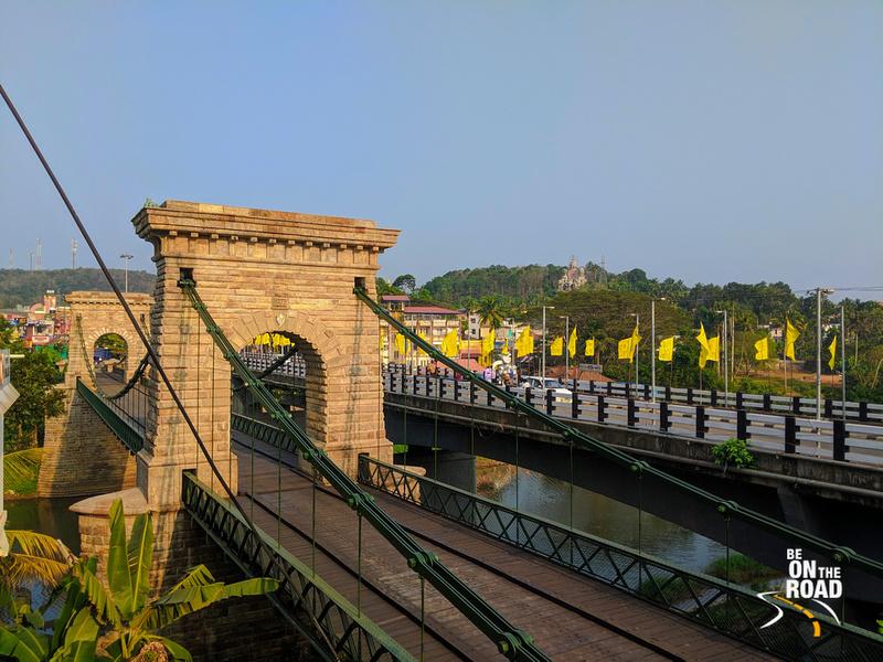1877 Punalur Suspension Bridge - South India's first motorable suspension bridge