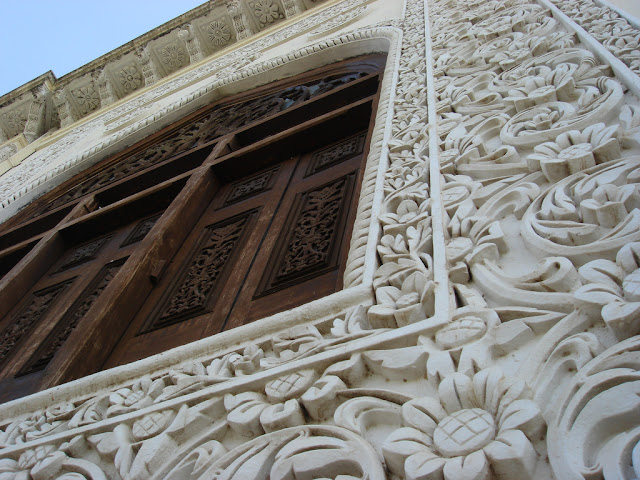 Carving on the facade of the Chowmahalla palace