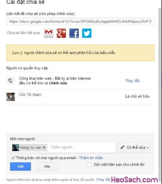 Hình 9 - Hướng dẫn sử dụng Google Drive để lưu dữ liệu