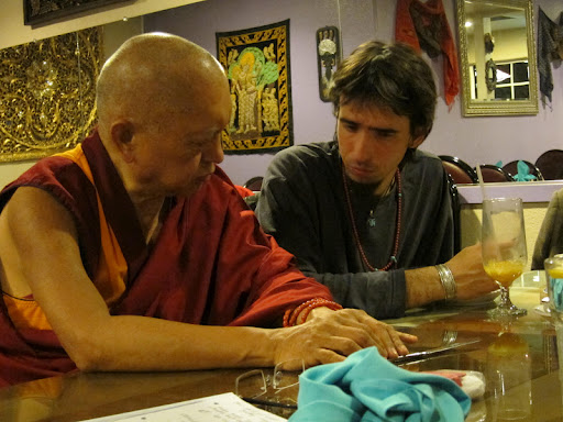 Lama Zopa Rinpoche and Osel, February 2011