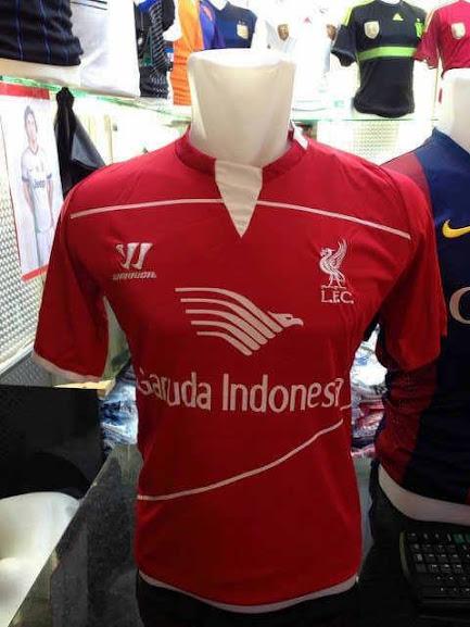 Jersey Training Liverpool Hitam Garuda Indonesia 2014-2015