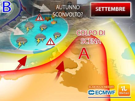 Ιταλοί μετεωρολόγοι : Ένας Σεπτέμβριος με θερμοκρασίες πιθανόν πάνω από τα φυσιολογικά για την εποχή αλλά και με ακραία φαινόμενα