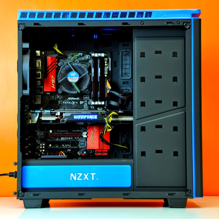 Intel Ultimate Custom Gaming PC trong NZXT Phantom 440 Đen – Xanh - 62970