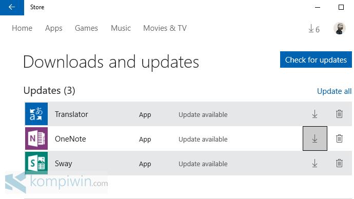 auto-update aplikasi dari windows store windows 10