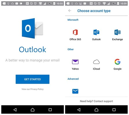 how to stop account syn in outlook 2016